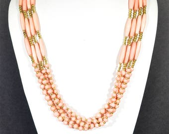Rose Gold three strand necklace