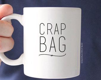 Coffee Mug - Ceramic Mug - Ceramic Coffee Cup - Tea Cup - Tea Mug - Crap Bag - Single Mug