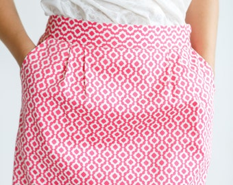 SALE!!!! bright cotton summer skirt one of a kind