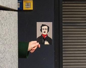 Edgar Allan Poe postcard, 4.1''x5.8''