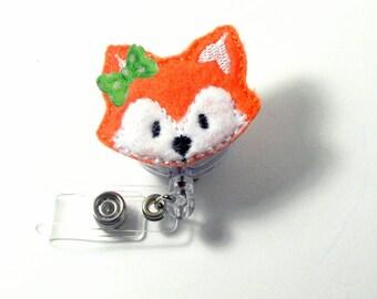 Nurse Badge Reel   Fox Felt Badge Reel   Fox Planner Clip   Nurse Gift   Retractable   ID Holder   Badge Clip   Pediatric   Cute   ID Badge