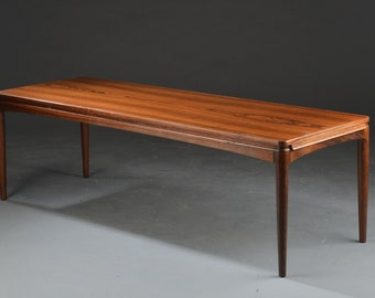 Large Danish coffee table of solid rosewood