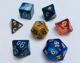 Polyhedral Dice Set - Ravenclaw - DnD Tabletop RPG
