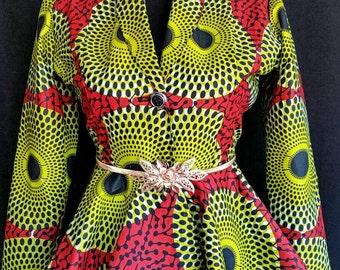 Princess Ankara  Blazer  African print jacket, Ankara women Clothing, African clothing