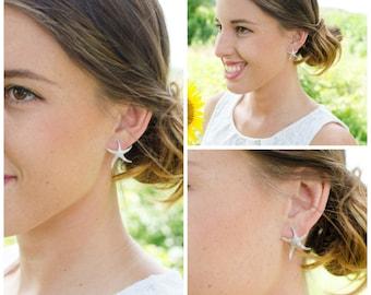 Starfish Jewelry   Beach Wedding   Starfish Earrings   Bridesmaid Gifts   Bridesmaid Earrings   Personalized Gift   Bridal Earrings