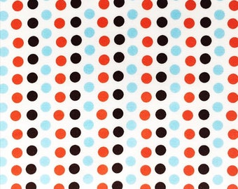 Get dotty! Heather Ross Blue Black and Orange Dots! OOP and HTF!