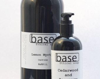 Liquid soap   castile   vegan   choice of 2 essential oils   natural castile   ethical