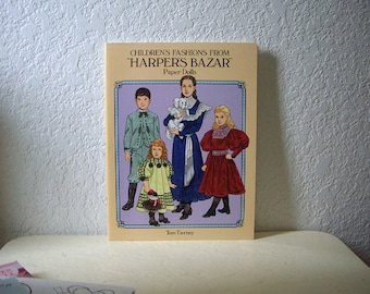 Paper Doll Booklet, Childrens Fashions From Harpers Bazar Uncut, 1994