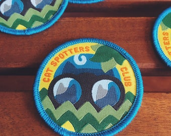 Cat Spotters Club Iron-On Patch
