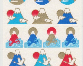 Mt Fuji Stickers - Paper Stickers - Reference T4913