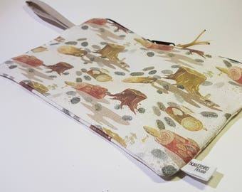 Fabric Zip Pouch Woodlouse Insect Pill Bug Garden Woods Large Travel Soap Bag