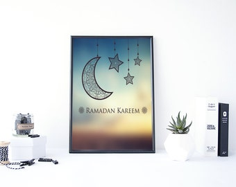 Ramadan Decoration, Ramadan Kareem, Ramadan Printables, Ramadan Gift, Muslim Art, Ramadan Mubarak, Muslim Gifts, My First Ramadan