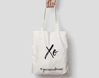 XO White Tote Bag | Shopper | Market Bag
