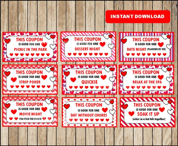 printable coupons for adults 40 different cards for husband