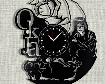Okja vinyl record clock, wall clock Okja, Best Gift for Home Decor