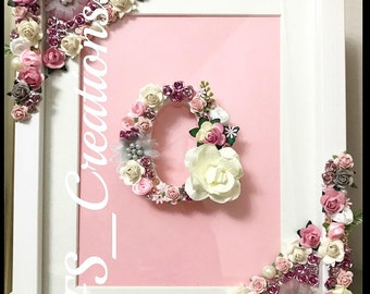 Personalised Initial letter frame