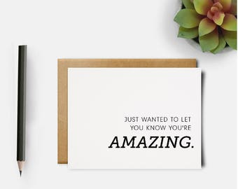 Your Amazing Card | You are Strong | Be Amazing | Cancer Card | Encouragement Card | Thank You Card | Recovery Card | Get Well Card