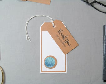 Business Thank You Tags - Small Business Tags - Watercolor Knitting Tags - Handmade Seller Tags - Thank You Tags – Handmade Business Tags