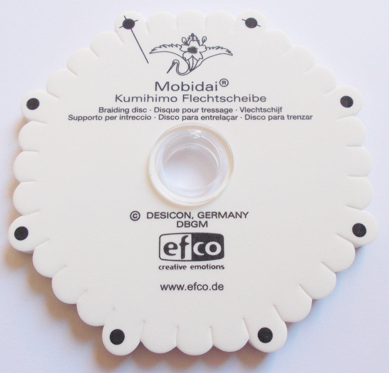 Kumihimo braiding disk Mobidai weave template