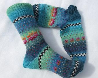 Colorful socks agua size 37/38