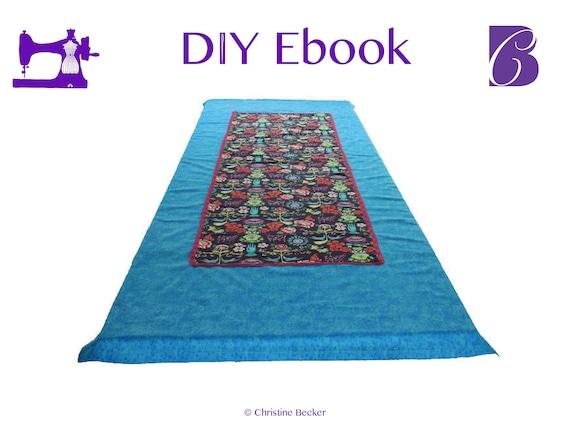 PDF Ebook Tutorial Table Runner / Table Cloth Mitered Hem