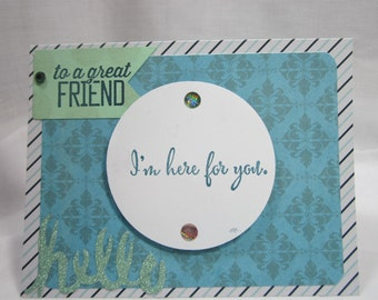 To a Great Friend card