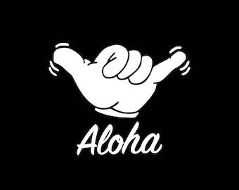 Aloha Shaka Decal, Aloha Car Decal Sticker,Hawaii Sticker, Shaka Sticker,Hawaiian Decal,Aloha Shaka Car Decal,HI Islands Hawaii Decals HI