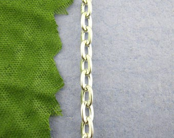 FIL4 - 1 meter of mesh chain in silver, 3 x 5 mm
