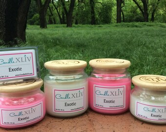 Exotic Scented Soy Jar Candle, Exotic Scented Soy Wax Melts
