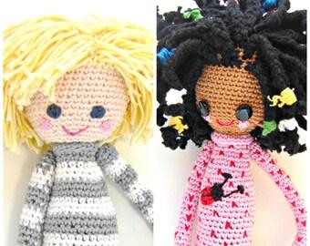 2- Crochet Pattern Special Deal, Buy the Crochet Doll Desireè Pattern and the Crochet Doll Lars Pattern for Euro 10.00, crochet pattern