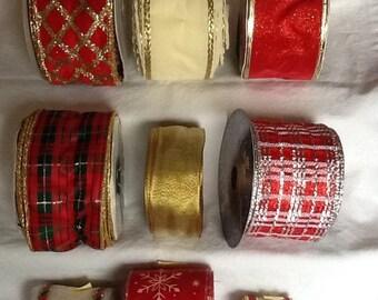 Wired Christmas Ribbon Bundle
