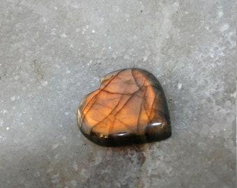 Labradorite gold bronze 23,52 Gr-heart