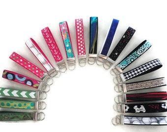 Valentines Day Gift For Him or Her, Key Fob Wristlet, Key Chain, Green Chevron Key Holder, Strap, Keychain Wristlet, Wristlet Keychain,