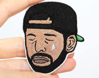 Sad Drake Patch - Iron-On - Embroidered Patch