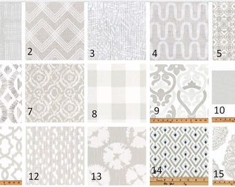 French Grey Print Window Valance-Window Treatments-You Choose Your Size and Pattern