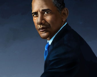 Barack Obama portrait print