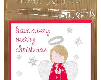 Christmas Card Pack - Angel design, Small (Pack Of 6)