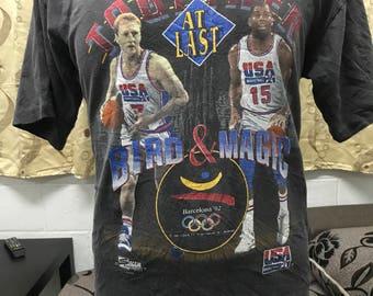 Rare Vintage Basketball Legend - Together at Last Barcelona 1992 USA