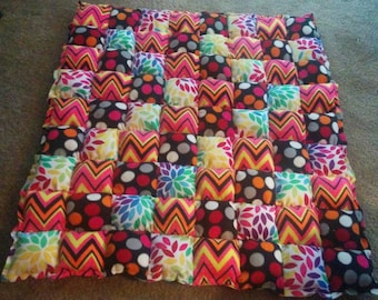 Bubble pad rag quilt- you choose the colors