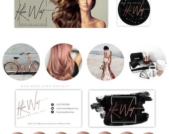 Full premade branding kit - Rose gold, Black & white