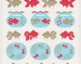 Japanese Goldfish Stickers - Paper Stickers - Reference T4271H6033