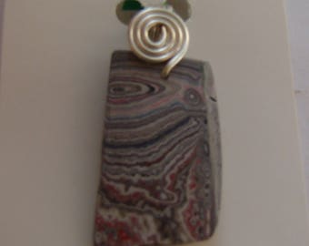 Necklace w/ pendant made from FORDITE automotive paint drips !!