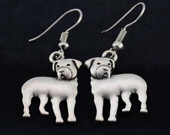 Rottweiler Earrings, Rottweiler Jewelry, Rottweiler Owner Gift, Rottweiler Dog Charm Earrings, Gift for Rottie Lover, Gift for Rottie Owner