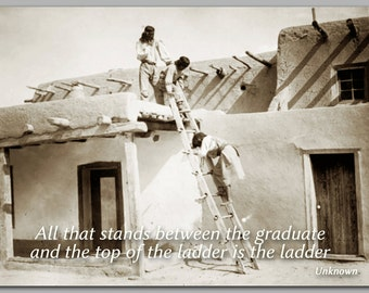 GRADUATION CARD - Achievement & Success - Edward Curtis Historic Photo - Also available as a Print or a Quote Block (CPIC2013012)