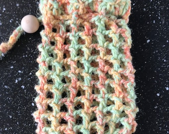 Crochet Soap Saver Bag Soap Pouch Handmade Soap Saver Soap Sleeve  Soap Sock Great for Camping