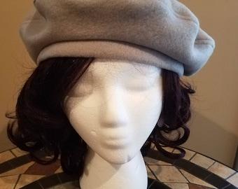 Light Gray Beret Hat Tam