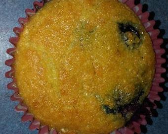 Dairy Free, Gluten Free, Blue berry Muffin