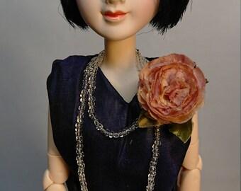 "OOAK POSABLE DOLL Taisho roman Modern girl ""Nanako"" 1/6 Custom Doll Obitsudoll27"