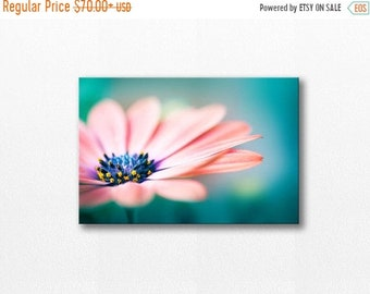 ON SALE botanical canvas print floral photography canvas12x12 24x36 fine art photography flower canvas wrap canvas wall art nature teal peac