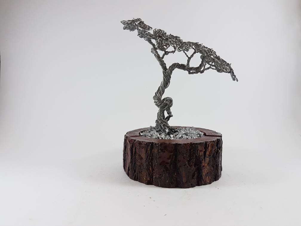 Maß Kunst-Handmade Draht Draht Kunst Bonsai